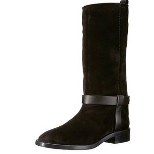 Stuart Weitzman Casey western harmess suede boots